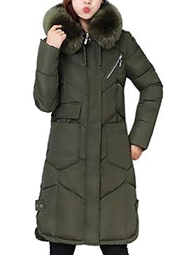 WINWINTOM Moda Mujer Casual más Gruesa de Invierno Slim Down Lammy Chaqueta Abrigo Largo Outwear