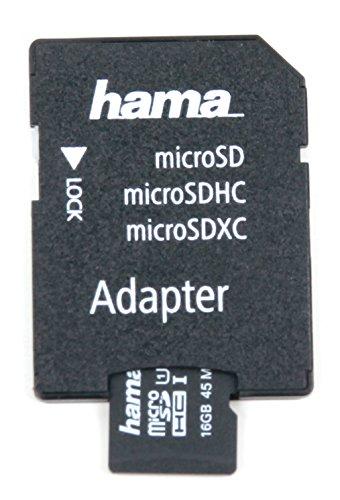 DURAGADGET MicroSD-Karte (SDHC/UHS-I) mit 16 GB und Adapter für Blaupunkt BIKEPILOT2 Outdoor-, Fahrrad- & Wander-Navigationsgerät. Zum Speichern von Daten/Erweiterung der Speicherkapazität