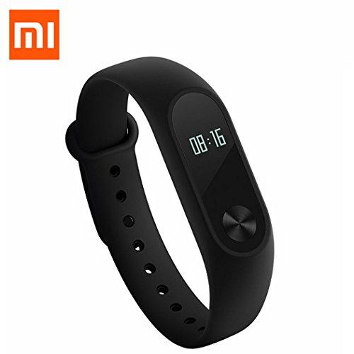 Original XIAOMI Mi 2Smart Band Smart Smart Armband Bluetooth Kabellos Herzfrequenz Monitor Fitness Tracker Schrittzähler Wasserdicht für Android & iOS Handy