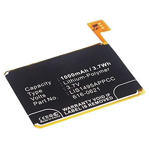 subtel® Qualitäts Akku kompatibel mit Apple iPod Touch 5 Gen. A1421, iPod Touch 5 Gen. A1509 (1000mAh) 616-0621,LIS1495APPCC Ersatzakku Batterie -