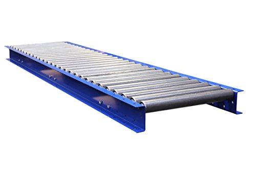 Gravity-Rollenbahn 2400mm x 100mm/110mm innen Rahmen-(Wahl der Roller Zentren), 2400mm X 100mm @ 75mm Pitch Roller Centres, RAL 5002, 10