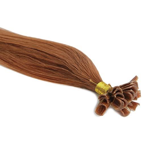 Extensions Cheveux Kératine 100 mèches indiennes 0,8gr Cuivré 50cm