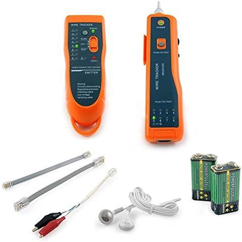 Incutex Wire Tracker Kabelfinder, RJ45/RJ11Finder, para teléfono y LAN Cable de cable, detector de línea