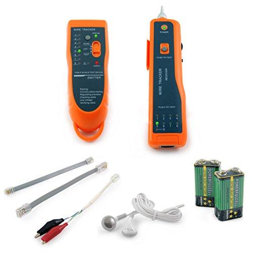 Incutex prova cavi RJ45 RJ11 LAN ethernet, rilevatore di cavi elettrici, include emettitore e ricevitore