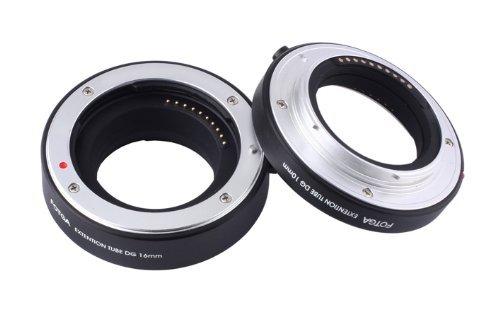 FOTGA Makro AF Autofokus Extension Tube Set 10mm 16mm DG für Sony NEX E-mount A7 A7R A7S II A6000 A6300 A6500