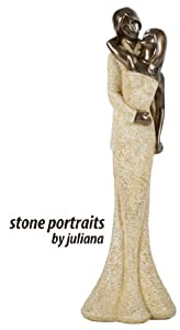 Stone Portrait Figurine by Juliana Ornament 'Loving Couple' Statue 39cm