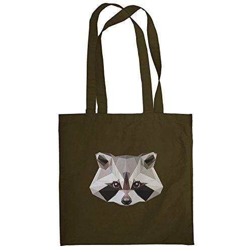 Texlab–Poly Racoon–sacchetto di stoffa Marrone