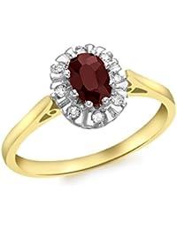Carissima Gold Damen-Ring 9 k (375) Gelbgold Rundschliff Diamant