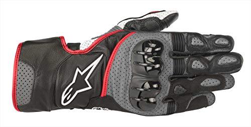 Alpinestars Sp-2 V2 - Guantes de moto (talla XL), color negro, gris, rojo