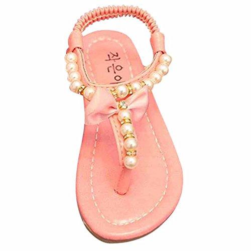 Juleya Sommer Kinder Mädchen's Sandalen Flip-flop Wohnung Wulstige Prinzessin Kleid Schuhe Leder Blume Mode Turnschuhe (Kleid Sandalen Baby-mädchen)