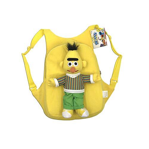 QYS Anime Sesame Street Plüsch Rucksack Cartoon Elmo Cookie Monster Big Bird Rucksack,Yellow (Grover Und Big Bird)