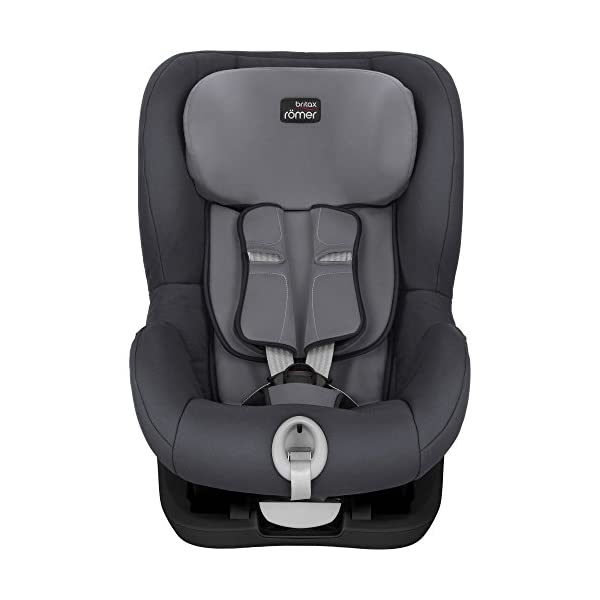 Britax Römer car seat 9-18 kg, KING II BLACK SERIES, group 1, Storm Grey Britax Römer Easy installation - with tilting seat and patented seat belt tensioning system Optimum protection - performance chest pads, deep, padded side wings 3