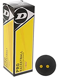 Dunlop Pro Raquetbol Deportes Ráquetbol Squash Bola Accesorios - Negro, One Size