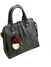 9299a95aa4d63 Baymate Frauen PU Leder Tasche Umhängetasche Gedruckt Messenger Bag Elegant  Handtasche
