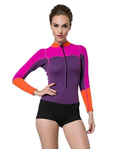Thriving and Prosperous 2MM Keep Warmer Badeanzug Neopren Neoprenanzug Tauchanzug für Frauen