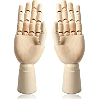 """12"""" Wooden Hand Body Artist Model Jointed Articulated Flexible Fingers Wood Sculpture Mannequin Model"""