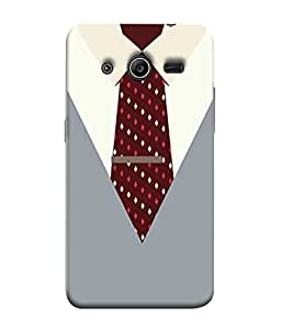 Samsung Galaxy Core 2 G355H, Samsung Galaxy Core Ii, Samsung Galaxy Core 2 Dual Back Cover Executive Dress With Tie Design From FUSON