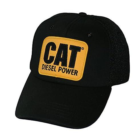 Caterpillar CAT Vintage Diesel Power Black Mesh Cap by