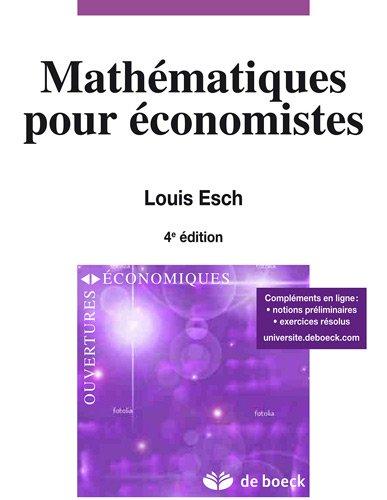 Mathématique : Pour économistes et gestionnaires