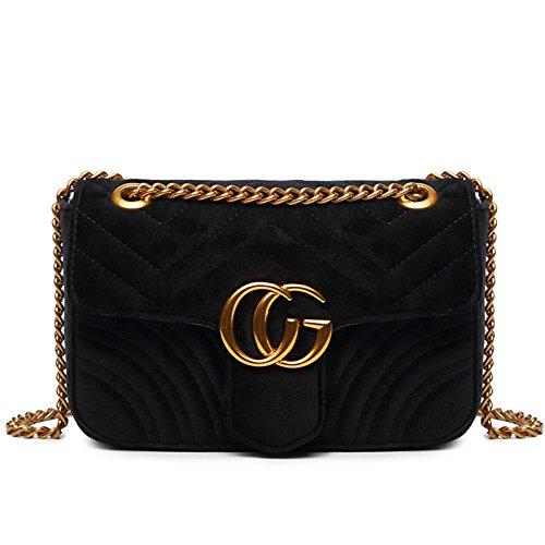 FXTKU2018 Damen Geldbörse Mini Handy Tasche Stern mit dem gleichen Absatz samt Brustbeutel samt ovalen Taschen umhängetasche damen klein handtasche(Schwarz 9)
