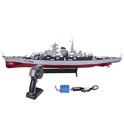 TONGJI Kinder RC Boot Ferngesteuerte Schlachtschiff Militär 2,4 Ghz 4 CH 1:360 Modell Kriegsschiff Speed Von 6KM/h Wasserspielzeug Geschenk RC Spielzeugs Für Mädchen Jungen