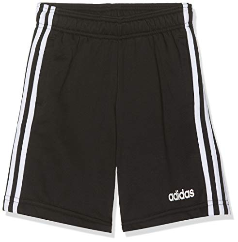 adidas Jungen Essentials 3-Streifen Knit Shorts, Black/White, 128 -