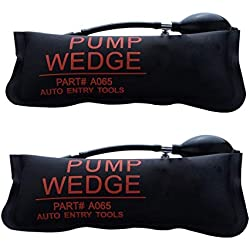 URXTRAL Air Wedge Pompe à air Coussin gonflable en Plastique Air Pump Wedge Up Outil Alignement Outil Inflatable Shim Coussiné Puissant (Large 2PCS)