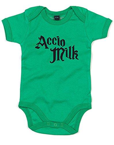 Accio Milk, Gedruckt Baby Strampler - Grün/Schwarz 3-6 Monate