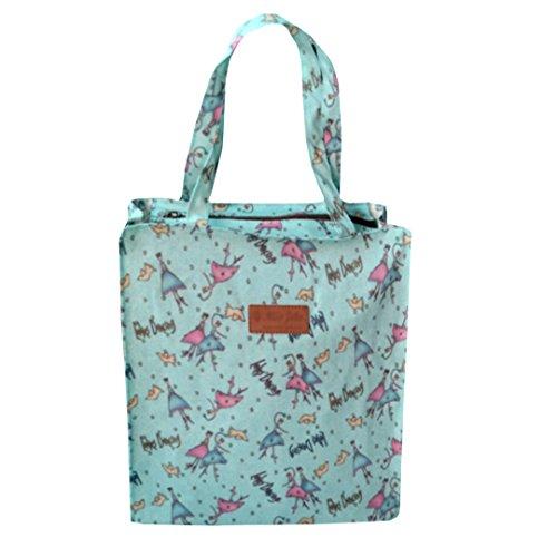 La Haute moda stampato borse per la spesa borse per il pranzo in tela cerata impermeabile per viaggio picnic Bags Type 1 Type 3