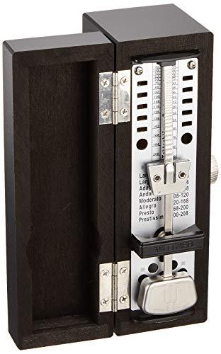 Wittner Taktell Super Mini Metronom Holzgehäuse ohne Glocke schwarz-matt