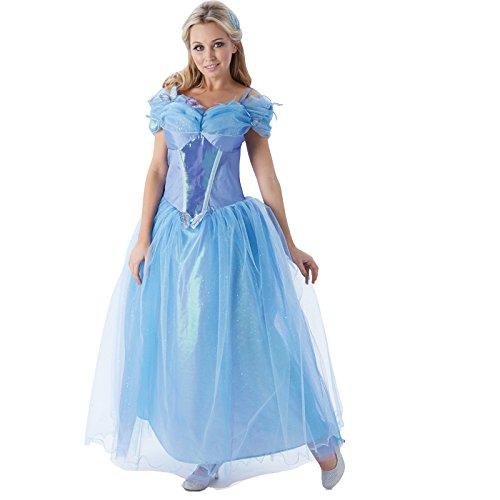 Rubies 3810202 - Cinderella Live Action Movie Adult, M, hellblau (Cinderella Adult Kleid)