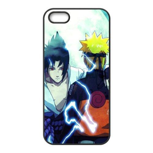 iPhone 5S Case, iPhone 5. Naruto de Apple iPhone 5/iPhone 5S Case Coque de protection Case TPU Étui Coque de Protection pour iPhone 55S (Blanc/Noir)