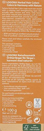 LOGONA Naturkosmetik Coloration Pflanzenhaarfarbe, Pulver - 020 Sahara - Rotblond, Natürliche & pflegende Haarfärbung (100g) - 6