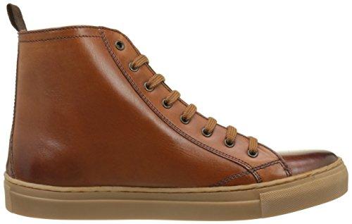 Base London Herren Russell Hohe Sneaker Beige (Tan Washed)