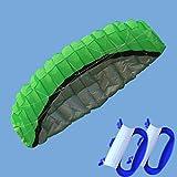 Oyamihin 2,5m Dual Line Stunt Fallschirm Soft Parafoil Segel Surf Kite Power Sport Kite Huge Large Aktivität im Freien Beach Flying Kite - Green