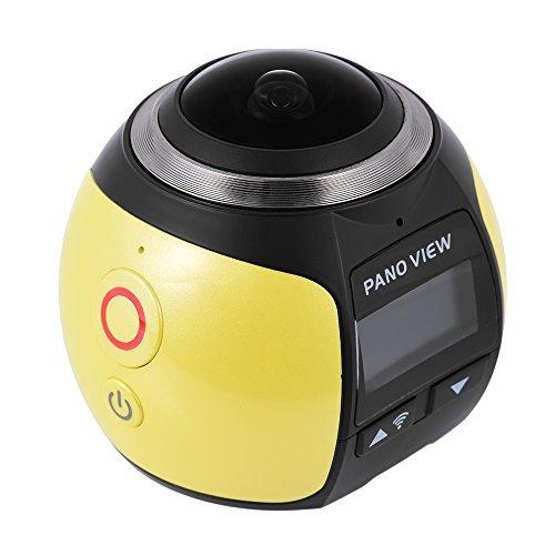 Andoer v1 360° panorama sport cam wifi 2448p 30fps 16m fisheye film fonte per virtuale occhiali vr action sports attività all'aperto videocamera portatile car dvr
