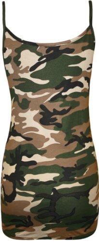 WearAll - Camouflage imprimé débardeur top - Hauts - Femmes - Tailles 36 à 42 camouflage