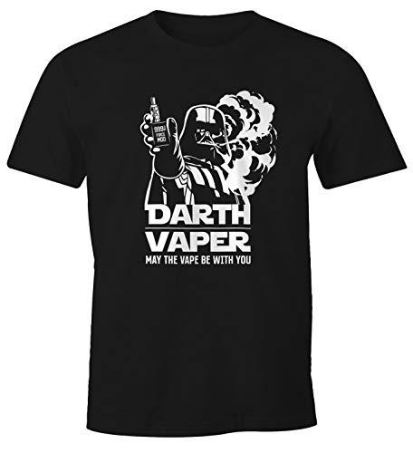 MoonWorks Herren T-Shirt Darth Vaper Fun-Shirt Dampfer-Shirt schwarz 4XL