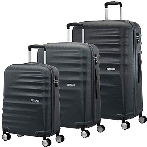 American Tourister Wavebreaker 3 Pieces A Koffer-Set, 196 Liter, Nightshade