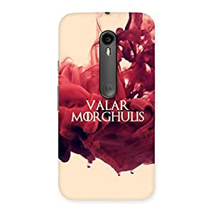 Neo World Red Saying Back Case Cover for Moto G Turbo