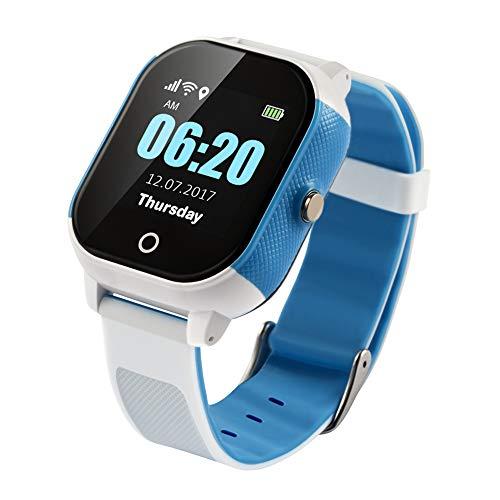 Reloj Inteligente Inteligente Pulsera Anti-Perdida Impermeable Reloj para Niños GPS Brújula WiFi lbs Posicionamiento Exacto Llamada SOS