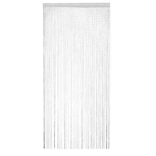Trixes confezione da 2 pannello tenda a striscioline bianche e argentate - effetto cascata di rugiada - tenda a fili - 90 cm x 200 cm - perfetto come schermo mosca