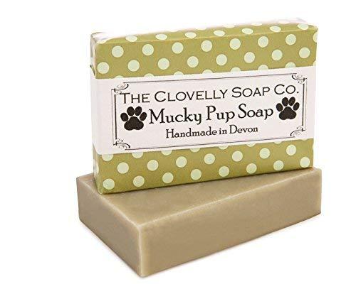 The Clovelly Soap Co Hundeshampoo Mucky Pup natürliche Seife für alle Rassen und Fell 100g Pack Im Vereigniten Königreich mit 100% Naturprodukten handgefertigt -