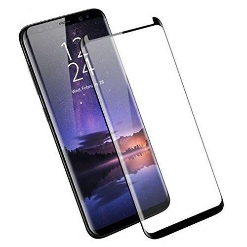 HONTECH Galaxy S9/Galaxy S9 Plus Displayschutzfolie 3D gebogen volle Abdeckung HD gehärtetes Glas für Samsung Galaxy S9/S9 Plus, Galaxy S9, schwarz -
