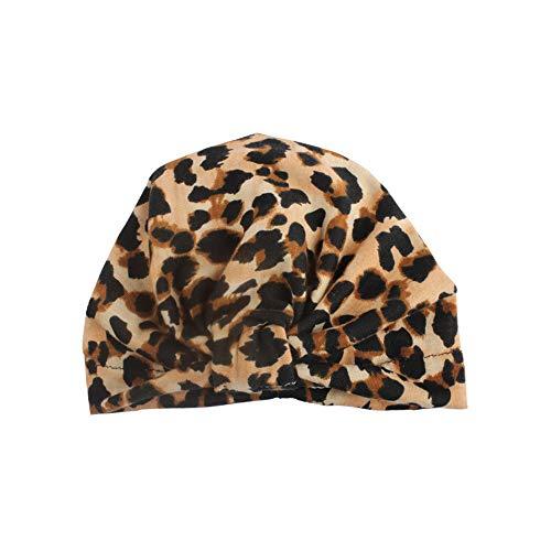 Zegeey Baby Kleinkind MäDchen Jungen Geknotete MüTze Beanie Headwear Leopard Cap HüTe MüTze(Gelb) -