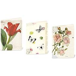 Susi Invierno Cards–Juego de tarjetas de felicitación de alta calidad para Primavera y Verano Con Tulipanes, rosas, Mariposas, 11,5x 16,5cm