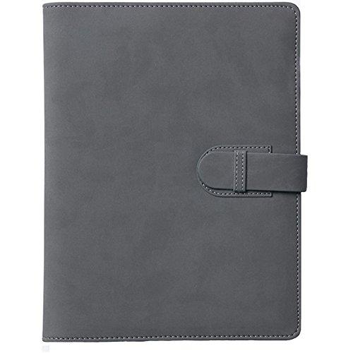 Advogue PU Leder Perforated A5-Geschäfts-Notizblock 80 Pages Notizbuch Schreibmappe für Notizblock mit Kartenfächer,Stifthalter