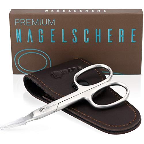 KIBAGA Profi Nagelschere - Auch für Fussnägel geeignet - Extra scharfe Premium Nagel Schere mit gebogener Schneide für stets gepflegte Nägel