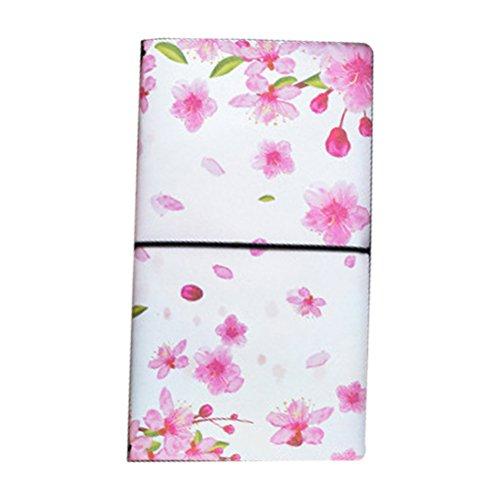 TOYMYTOY Kreatives Notizblock Schreiben Journal Tagebuch Notizbuch, PU-Leder, japanische Art (Lovely Flower Pattern)