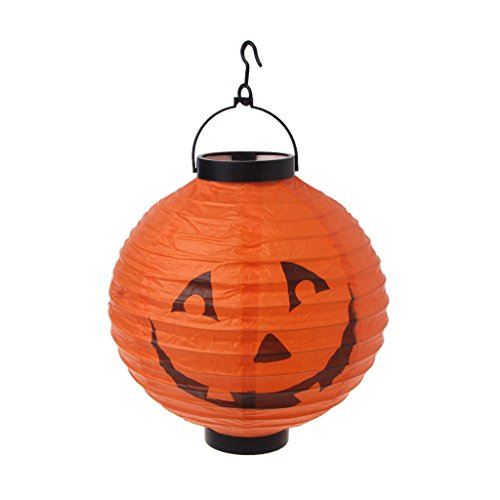 JAGETRADE Halloween Dekoration Papier LED Laterne Hängen Kürbis -